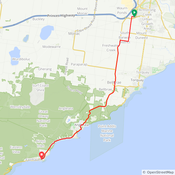 380 Waurn Ponds to Aireys Inlet